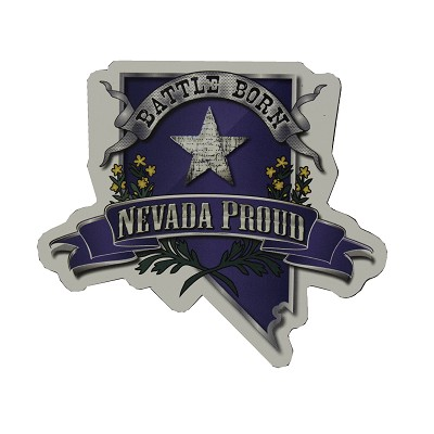 Magnet - Battle Born and Nevada Proud Logo Refrigerator Magnet