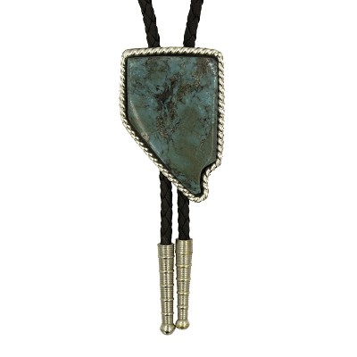 Bolo Tie - Turquoise and Solid Silver