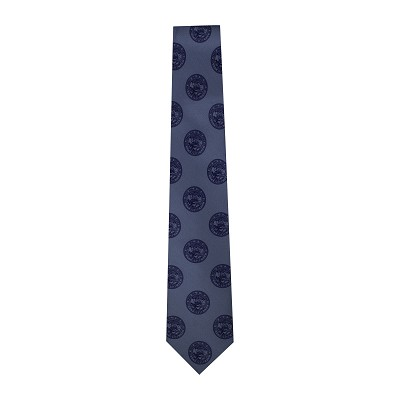 Blue (Pantone) Necktie with Nevada State Seals Blue  - Extra Long