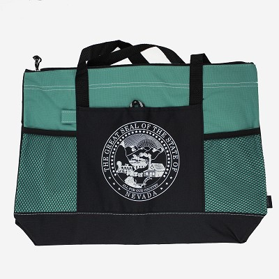 Tote - Nevada State Seal - Turquoise