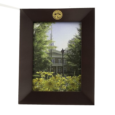 "Frame - Rosewood Picture Frame with the Nevada State Seal Engraved with Gold Fill at the Top 5"" X 7"""