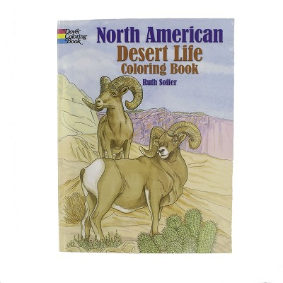 North American Desert Life Coloring Book by Ruth Soffer