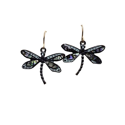 Earrings - Dragonfly Patina