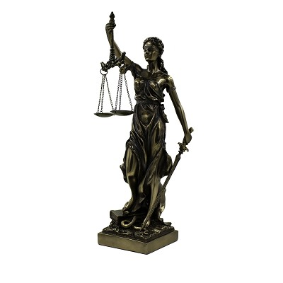 "Lady Justice - 12.5"" Bronze"