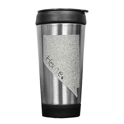 Travel Mug - Coffee Tumbler - Nevada Silver