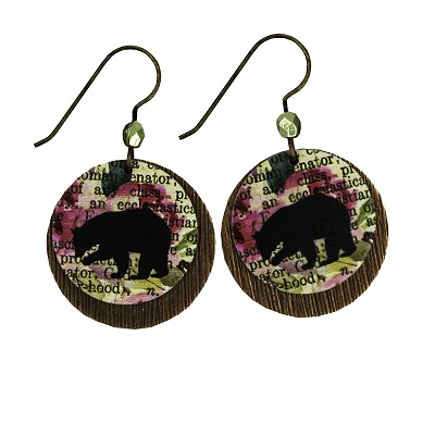 Earrings - Bear - Circle