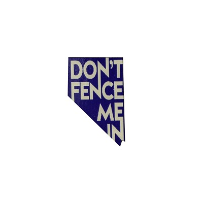 Lapel Pin - Don't Fence Me in Blue and White
