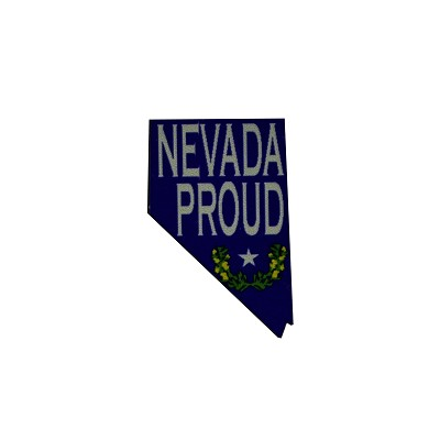 Lapel Pin - Nevada Proud in Blue and White