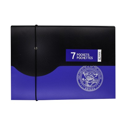 Folder - Seven Pocket Poly Expanding File Folder with the Nevada State Seal