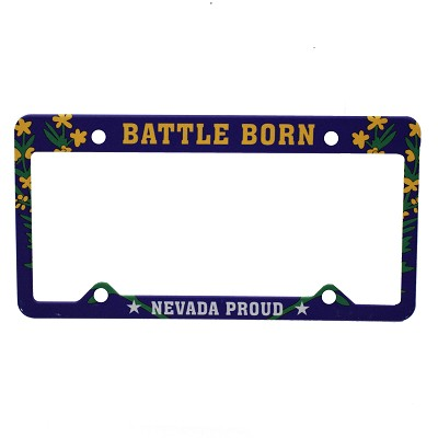License Plate Frame - Battle Born Nevada Proud