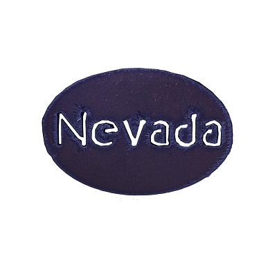 "Magnet - Oval Shape with ""Nevada"""