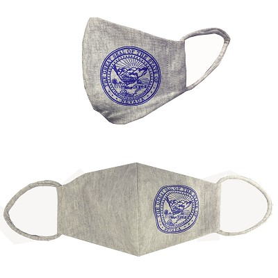 Face Mask with Nevada State Seal - Gray