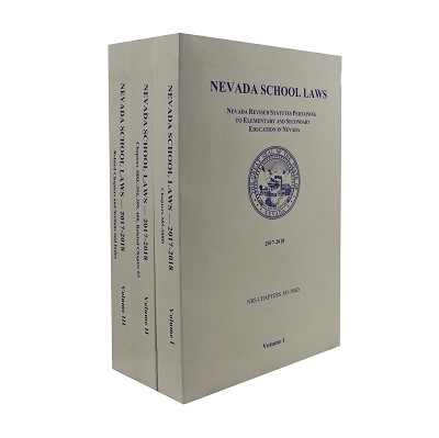 Nevada School Laws 2017-2018 Three Volume Set