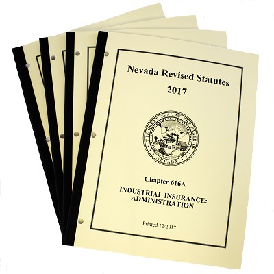 NRS Chapters 616A , B, C, D and 617 - Booklet Set With Indexes